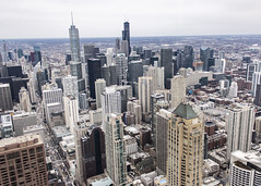 (jfre81) Tags: chicago aerial high view birds eye skyline downtown loop john hancock sears willis trump river north city urban landscape horizon skyscraper architecture james fremont photography jfre81 canon rebel xs eos