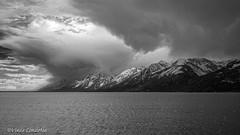 Storm On The Range (Vince Condella) Tags: grandtetonnationalpark grandtetons jacksonlake wyoming clouds mono mountains processedinluminar storms