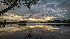 Lough Fea sunset (jac.photography49) Tags: canon clouds dam exposure reflections loughfea images ireland view wideangle sky lough mountain northernireland ngc nightsky sunset tree water 1635mm c