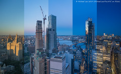 Lower Manhattan Time Lapse Photo (20190614-DSC08513-Edit v3) (Michael.Lee.Pics.NYC) Tags: newyork brooklyn aerial hotelview millenniumhilton sunset twilight night bluehour timelapse composite cityhall parkrow construction eastriver brooklynbridge manhattanbridge architecture cityscape sony a7rm2 zeissloxia21mmf28