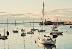 Tranquility (gerrymccabe) Tags: scenic ireland nature natural magical sky water shadows peaceful reflection sunset dunlaoghaire harbour peace peacefulness lighthouse boats reflections