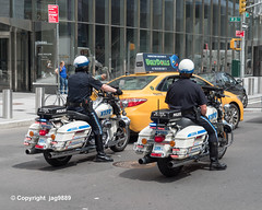 NYPD Motorbike Police Officers, Hudson Yards, New York City (jag9889) Tags: auto nyc newyorkcity people usa ny newyork car bike automobile unitedstates outdoor manhattan taxi unitedstatesofamerica police nypd midtown motorbike transportation cop motorcycle vehicle officer lawenforcement finest policeofficer 31ststreet 2019 firstresponder policedepartment 10thavenue tenthavenue newyorkcitypolicedepartment hudsonyards 10av 10ave 20190614 yellowcab harleydavidson jag9889 harley hd hog