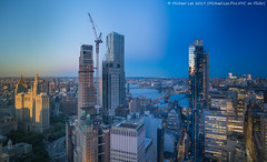 Lower Manhattan Time Lapse Photo (20190614-DSC08513-Edit v4) (Michael.Lee.Pics.NYC) Tags: newyork brooklyn aerial hotelview millenniumhilton sunset twilight night bluehour timelapse composite cityhall parkrow construction eastriver brooklynbridge manhattanbridge architecture cityscape sony a7rm2 zeissloxia21mmf28
