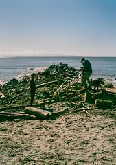 Capitola, California (bior) Tags: capitola california pacificocean ocean shore coast beach santacruz fujicahalf kodakgold expiredfilm sandspit sandbar