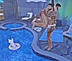 Ardent Pose - Lets Go (Sɲίper Dayɲ-Vίʅʅota) Tags: ardentposes summerfest event pose couplepose slblog snipersbits secondlife sniper slblogger sl stockard blog blogger bloggers pool gay gaymale gayguys gaycouple
