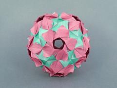 Primula var. (masha_losk) Tags: kusudama кусудама origamiwork origamiart foliage origami paper paperfolding modularorigami unitorigami модульноеоригами оригами бумага folded symmetry design handmade art