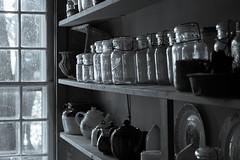 Valentine Whitman House (arckphoto) Tags: bvhc lincoln rhodeisland valentinewhitmanhouse z7 unitedstatesofamerica history stoneender house blackandwhite kitchen