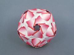 Kimono var (masha_losk) Tags: kusudama кусудама origamiwork origamiart foliage origami paper paperfolding modularorigami unitorigami модульноеоригами оригами бумага folded symmetry design handmade art