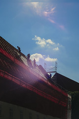 Under the Sun (youdoph) Tags: roof architecture urban building clouds sky sun summer