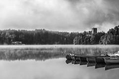 * (andreassimon) Tags: waldviertel österreich ruine sw ottenstein kanu canoe bw bn