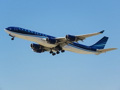 4K-AZ85 (yonatan spotting) Tags: azerbaijan azerbaijanairlines airbus airbusa340 a340 a340500 4kaz85 azal
