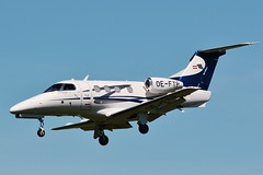 Embraer EMB-500 Phenom 100 , OE-FTP , landing at Oxford / London Airport (Bob Symes) Tags: oeftp phemom oxford