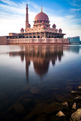 Putra mosque (anekphoto) Tags: mosque malaysia lumpur kuala putra sky putrajaya water islamic travel landmark dome famous reflection islam culture sunset blue city architecture asia religion river exterior lake place muslim minaret masjid pink design ramadan background modern style outdoor building tourism structure nature sunrise worship red beautiful people beauty attraction hour pattern mosques