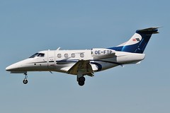 Embraer EMB-500 Phenom 100 landing at Oxford / London Airport (Bob Symes) Tags: oeftp