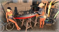 Surf Maintenance (Rose Beaumont) Tags: summerfest summer secondlife virtual metaverse thor surf trailer con tmk sexy girls