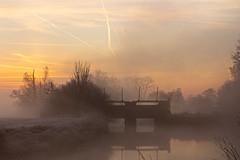 morgens, in der Natur unterwegs (Jörg Kage) Tags: natur landschaft himmel nebel wasser fluss staustufe sonnenaufgang sonne saarland eos700d canon