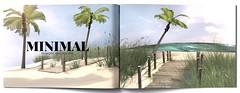 MINIMAL - Paradise Beach Scene (MINIMAL Store) Tags: minimal paradise beach scene decoration home holidays palmtree uber eventsl secondlife