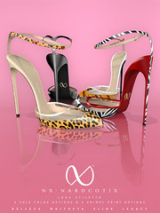 NX-Nardcotix Lora Stiletto (Nardcotix) Tags: nxnardcotix nardyarousselot belleza maitreya lora dubaievent pvc patentleather animalprint mesh heels pumps shoes seethrough stilettos modern footwear sexy cute chic girly bow anklestrap
