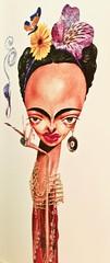 Frida Khalo (2018) - Fernandes (pedrosimoes7) Tags: fernandes fridakhalo cartoon caricature diáriodograndeabc brasil centroculturalecongressosdascaldasdarainha leiria portugal ✩ecoledesbeauxarts✩