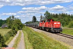 DBC 6466+6516 @ Bourdon (Maarten Schoubben) Tags: db schenker cargo 6400 6500 militair transport belgie belgium diesel train goederen lijn ligne 43
