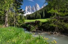 Geisler Mountains (twomphotos) Tags: italy south tyrol südtirol mountain lake berge see schnee wasser wiese nature natur scenic water waser geisler mountains villnös