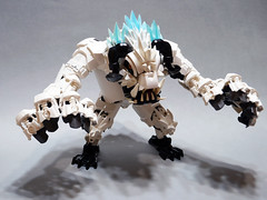 Yeti, the Snow monster. (danielhuang0616) Tags: biocup2019 beast angry white scary monster snow yeti 2019 bionicle lego