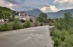 High Tide at Passer River (twomphotos) Tags: italy south tyrol südtirol mountain lake berge see schnee wasser wiese nature natur scenic water waser meran