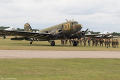 348608 (Baz Aviation Photo's) Tags: 4348608 n47sj dakota c47 united states air force duxford egsu qfo daks over normandy