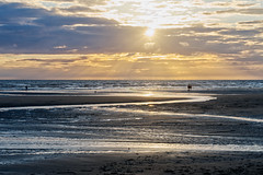 Blackpool, the Night Before the Summer Solstice (nickcoates74) Tags: uk beach evening coast seaside sony lancashire shore blackpool fylde 1650mm a6300 ilce6300sel1650 goldenhour crepuscularrays