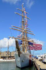 Sail op Scheveningen - USCGC Eagle (l-vandervegt) Tags: 2019 nikon d3200 tamron nederland netherlands holland niederlande paysbas zuidholland scheveningen tallship schip boot boat uscgceagle libertyregatta