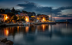 Blue Hour in a Croatian Village