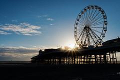 Central Pier, Blackpool (nickcoates74) Tags: 1650mm a6300 blackpool fylde ilce6300sel1650 lancashire sony beach coast evening seaside shore uk sunset goldenhour centralpier ferriswheel bigwheel