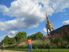Beautiful Garden with Golden Tower in London (Relaxed6) Tags: beautiful garden park people talking golden tower greenery clouds fun picnic family kids london uk green trees day outside naturephotography natur naturaleza sx260 us usa unitedkingdom goldentower