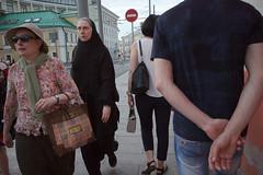 _R009597 (ildark) Tags: street moscow people sidewalk nun hand colour candid photography back