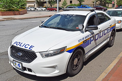 Picture Of City Of White Plains New York Police Department Car 4 - 2016 Ford Taurus Police Interceptor Sedan. This Car Used To Be Car 13 (422).  A White Plains Police Officer Told Me That He Thinks White Plains Had Not Used A Car 4 For Seven Years Or More (ses7) Tags: city white police plains department of new york