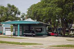 Robin's Egg Blue (jkotrub) Tags: blue aqua teal robinseggblue shop repair mechanic sun summer daylight neighborhood color colour car local automotive technician colorful coloring2019