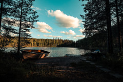 Mid summer bliss. (A.Koponen) Tags: canon rf24105mmf40 nature lake boat bluesky sky cloud summer suomi finland
