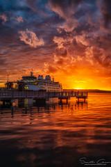 Mukilteo Sunset (chimphotography) Tags: mukilteo sunset fiery fierysunset lastdayofspring ferry wsdot washington clouds dramatic ocean serene sun pnw pacificnorthwest pacificnw sunshine