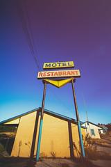 Check In at the Route 66 Motel (Thomas Hawk) Tags: america route66 route66motelandrestaurant texas usa unitedstates unitedstatesofamerica abandoned motel neon neonsign fav10