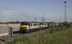 Photo of 90 047 & 90 048 leaving Kingmoor with 4S44.