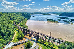 Safe Harbor, PA (WabbyTwaxx) Tags: safe harbor park dam susquehanna river aerial drone photos view bridge lancaster county