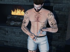 #177 - Very hot.... (by Blog: Male Fashion Modern) Tags: treizeddesigns hilted men pose hot secondlife themenjail event style ice