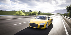 Audi. Track. Speed. (pavelsviridenko2) Tags: audi r8 v10 track speed car game racing photo screenshot forza yellow grass sun automobile