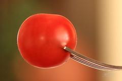 Cherry Tomato on a Fork (James Milstid) Tags: tomato fork cherrytomato macro macromondays canonef100mmmacro canoneos70d foodonafork food stylingfoodonafork