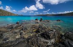 Coki Beach Blues (tquist24) Tags: caribbean caribbeansea cokibeach nikon nikond5300 outdoor stthomas usvirginislands virginislands beach blue clouds geotagged island nature ocean outside rocks sky tropical water
