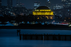 palace flock (pbo31) Tags: night dark black nikon d810 color june summer 2019 boury pbo31 city sanfrancisco california presidio crissyfield shore palaceoffinearts marina district blue silhouette