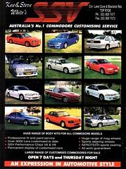 1994 Ken & Steve White's SSV Holden Commodore Enhance Body Kits Aussie Original Magazine Advertisement (Darren Marlow) Tags: 1 4 9 19 94 1994 h holden c commodore v b vb vc vh k vk l vl vn n p vp vr r body kits hsv s hdt d t a automobile vehicle 90s