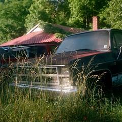 Tishomingo County, Mississippi. 5.24.19. (B-Side Americana) Tags: tishomingocounty mississippi iuka leehighway truck oldtruck rustytruck grass thesouth southerngothic america americana bsideamericana danwatsonphotography yashicamat124g yashica yashicamat yashicamat124 kodakportra160 kodakportra portra160 shack rust vines overgrown abandoned democraticforest southappalachianroadtripof2019 sart19 lostamerica abandonedplaces abandonedcars americanelegy southerndecay thedirtysouth rusty summer newtopographics americansurfaces patina abandonedamericana abandonedtruck vintagefilm vintagefilmcamera vintagecamera mediumformatfilm mediumformatfilmcamera theamericansouth