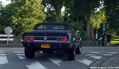 Ford Mustang convertible 1973 (Wouter Bregman) Tags: yy23tv ford mustang convertible 1973 fordmustang cabriolet cabrio roadster tourer v8 noir black nederland holland netherlands paysbas vintage old classic american car auto automobile voiture ancienne américaine us usa vehicle outdoor