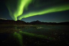 Lights Over the River (gainesp2003) Tags: aurora auroraborealis northern lights night landscape nature alaska arctic